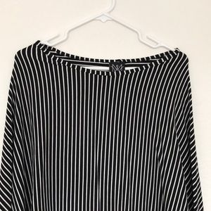 Modern Wrap Black and White Striped Nursing Cover